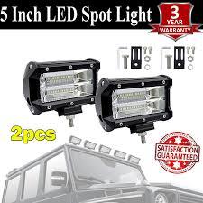 12 Volt Led Light Bar For Golf Cart Amazon Com Led Light Bar 2pcs 5 7200lm Triple Row 12 Volt