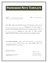 Promissory Note Template For Family Member Personal Loan Template Musacreative Co