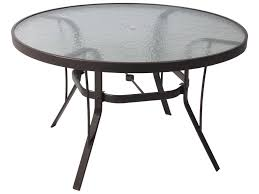 suncoast cast aluminum 48 round glass top dining table