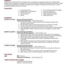 Financial Advisor Job Description Best Personal Financial Advisor Resume Example Livecareer Pertaining 1