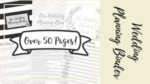 Printable Wedding Planner New Product Wedding Planning Binder Ac Events And Weddings