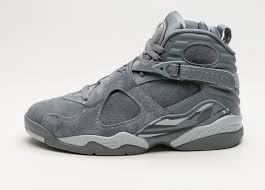 jordan 8 cool grey. nike air jordan 8 retro (cool grey / wolf - cool grey)