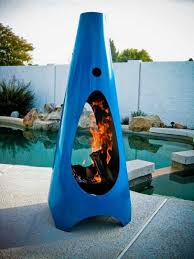 unusual outdoor furniture. blue color of unusual outdoor fireplaces made steel furniture o