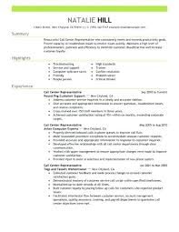 Customer Service And Sales Resume Gorgeous Call Center Resume Objective Resume Ideas