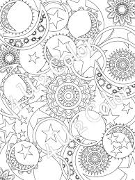 Small Picture Sun Moon Stars 1 coloring page sun moon stars patterns full