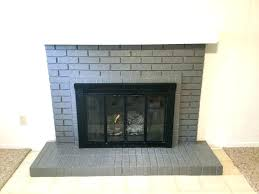 grey brick fireplace grey painted brick fireplace paint your brick fireplace in two easy steps the
