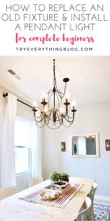 how to install pendant lighting. how to install a pendant light and swag it at tryeverythingblogcom lighting