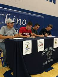 4 chino valley high seniors ink college letters of intent the daily courier prescott az