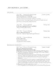 Science Teacher Resume Format Resume For Study