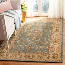 safavieh handmade heritage timeless traditional blue beige wool rug 4
