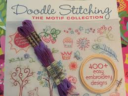 Doodle Stitching The Motif Collection 400 Easy Embroidery Designs Diy Hand Embroidery Olivia The Octopus Pink Bows