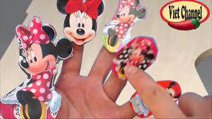 Bài hát Gia đình năm ngón tay cùng với gia đình chuột mickey - YouTube