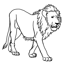 Small Picture simple lion Animal Coloring pages for kids to print color