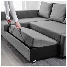 Furniture Friheten Corner Sofa Bed Storage Skiftebo Dark Grey