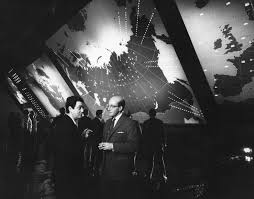 behind the scenes dr strangelove bfi a leisurely moment between takes kubrick chatting to peter sellers in the guise of
