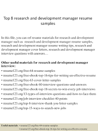 Personal Traits For Resume Example top60researchanddevelopmentmanagerresumesamples60conversiongate60thumbnail60jpgcb=160260675133 56