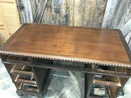 leather top desk ler p vintge ler p stined leather top computer desk uk
