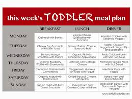 Toddler Meal Plan Chart Toddler Weekly Meal Planner Meal Plan For Toddlers