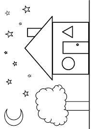 shape coloring sheets preschool diamond pages preschoolers
