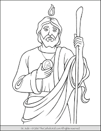 Catholic Saints Coloring Pages For Kids Archives My Localdea