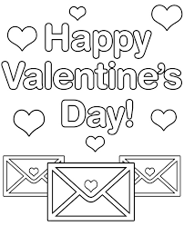 Print these coloring valentine's day cards out onto thin cardstock, cut around the edge and hand them to your child to colour. Happy Valentines Day Coloring Page Sheet Printable Card Image Jaimie Bleck