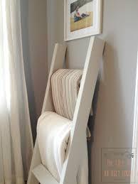 blankets on repurposed ladder