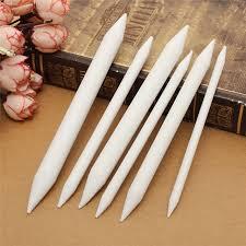 kiwarm 6pcs overvalue white paper oil painting brush pen set art painting supplies tortillon school students