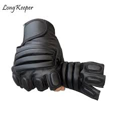 new style mens pu leather driving gloves fitness gloves half finger tactical black guantes luva fingerless for men g123