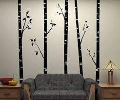 large birch tree wall art