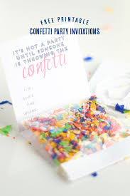 print free birthday invitations diy confetti invitation with free printable