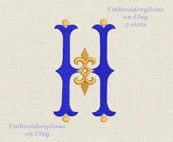 Aqw Recommendation Letter H Monogram H Wedding Style Embroidery Design Letter H For Initial Machine Pattern Vintage H Designs H Not Font Alphabet 3 Sizes