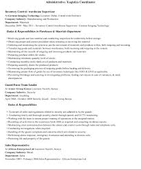 Resume Format For Logistics. Stylish Ideas Logistics