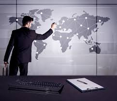 office world map. Download Business Person Drawing Dots On World Map Stock Image - Of Blackboard, Manager Office