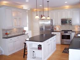 Wonderful Painting Oak Kitchen Cabinets White Before Throughout Decorating