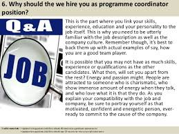 Top 10 programme coordinator interview questions and answers ... 7.