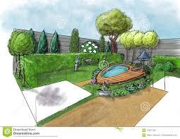 Garden Landscape Design Drawings Landscape Architecture Plan Design In The Courtyard For