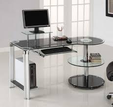 contemporary office desk glass. delighful desk unique contemporary office desk glass blue top modern furniture on
