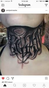 Vegan Tattoo Neck Lettering буквы тату чикано и каллиграфия