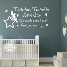 le le little star wall stickers baby boys girls bedroom wall e decor decals with fairy sitting on star 01