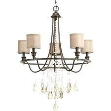 progress lighting 5 light chandelier flourish collection 5 light cognac chandelier with linen shade progress lighting