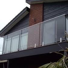 glass balcony railing frameless 12mm glass panels spigot rbm