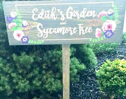 diy garden signs sign ideas vegetable wood fairy