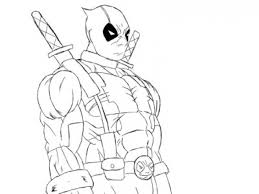 Small Picture Deadpool Printable Coloring Page Online Free Superheroes