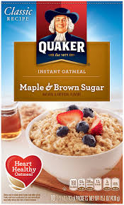 amazon quaker instant oatmeal maple brown sugar breakfast cereal 10 packet bo pack of 4 oatmeal breakfast cereals