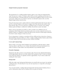 cover letter for restaurant proposal