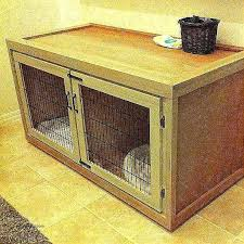 wooden dog crates crate end table unique woodworking xl