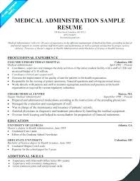 Medical Resume Template Stunning Receptionist Administrative Assistant Resume Template Hospital