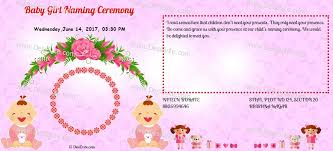 create and a indian naming ceremony namakaran invitation card instantly you can add date location cards can be made in english hindi marathi