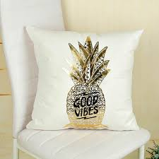 Online Shop Cushion <b>Bronzing Christmas Cushion Cover</b> Gold ...