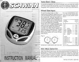 Schwinn Bike Computer Tire Size Chart Schwinn 12 Function Bicycle Computer Manual Battery Ag12 C